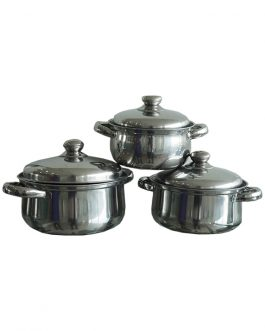 3pcs Pot (Stainless Steel)