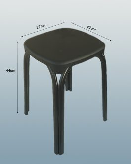 Round Plastic Stool With Metal Legs