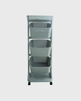 Plastic Storage Rack – 5Layer / Trolley with Revolving Wheels